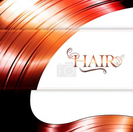 Illustration pour Fond cheveux rouges avec copyspace pour votre texte - image libre de droit