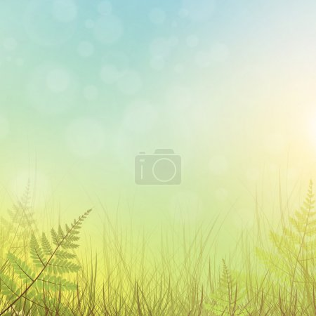 Illustration for Green grass meadow background - Royalty Free Image