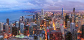 Chicago skyline panorama aerial view