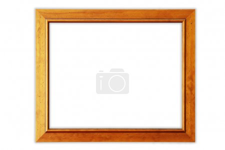 Old picture frame on plain background