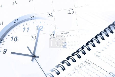 Photo for Clock, diary and calendar page - Royalty Free Image