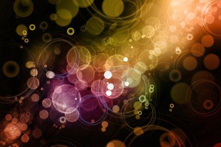 Photo pour La couleur abstraite se brouille sur fond sombre - image libre de droit