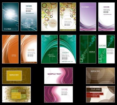 Illustration pour Modèles de cartes de visite. Conception vectorielle. Format Eps10 . - image libre de droit