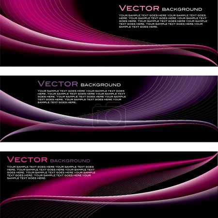 Illustration for Vector Set of Backgrounds. Abstract Illustration. Waves. Eps10. - Royalty Free Image