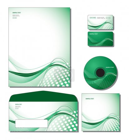 Corporate Identity Template Vector - letterhead, business and gift cards