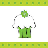 Happy Saint Patrick's Day clover cupcake