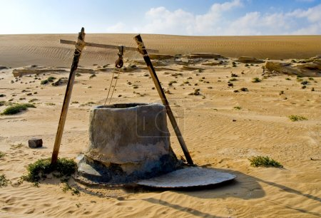 Photo for Water well in Oman Desert - Royalty Free Image