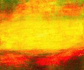 "Постер, картина, фотообои ""Абстрактные картины маслом желтый"""