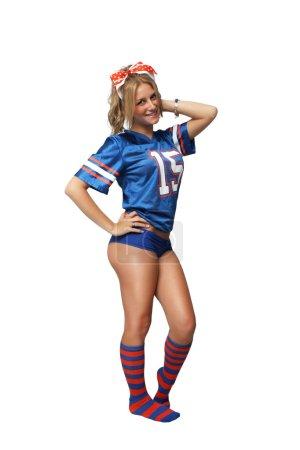 Sexy Blonde Football Fan (1)