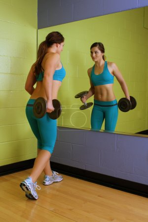 Beautiful Woman with Hand Weights (3)