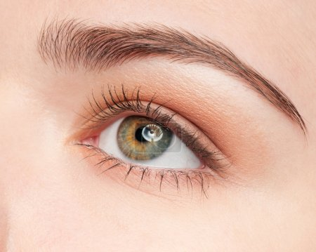 Photo for Close-up face of beauty young woman - eye make-up zone - Royalty Free Image
