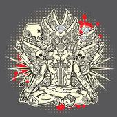 Stylish grunge illustration