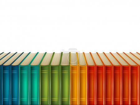 Multi-coloured books