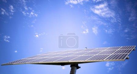 Photo pour Panneau solaire contre le ciel bleu - image libre de droit