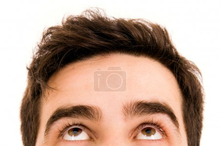 Photo for Close-up of Young man looking up - Royalty Free Image