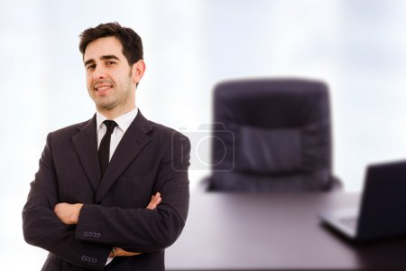 Smiling young business man