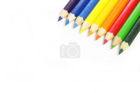 Color Pencils.Isolated on white background.
