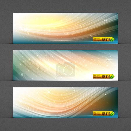 Illustration for Dynamic Solar Fields Banners | Highly Detailed Noise Texture in Background | EPS10 Vector Graphic | Layers Organized and Named - Royalty Free Image