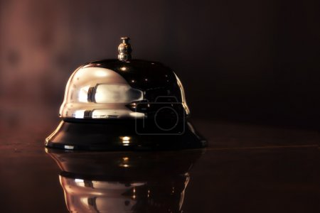 Photo for Vintage Brass Bell On Hotel - Royalty Free Image