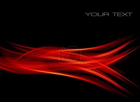 Photo pour Abstrait avec flamme rouge - image libre de droit
