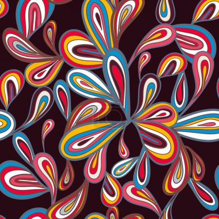 Photo for Abstract seamless vector pattern with bright drawing multicolor drops - Royalty Free Image