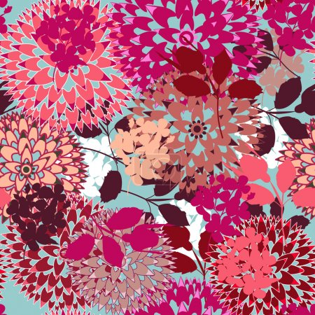 Photo for Seamless vector background with abstract flowers - Royalty Free Image