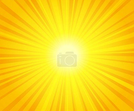 Illustration for Sun beams - Royalty Free Image