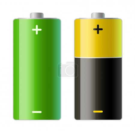 Illustration pour Illustration vectorielle de deux icônes de batteries - image libre de droit