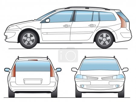Illustration for SW Car - Layout for presentation - vector - Royalty Free Image