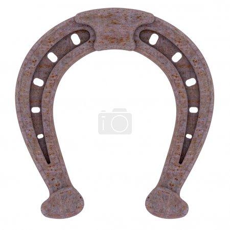 Decorative rusty horseshoe