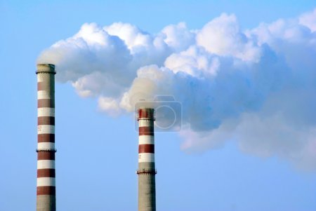 Smoking factory pipes