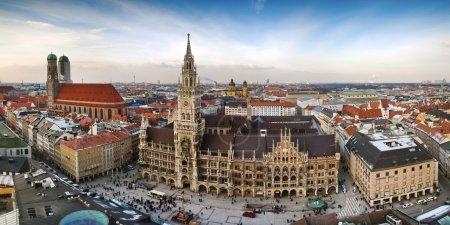 vue panoramique de la ville de Munich