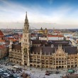 The panorama view of Munchen city centre with Mari...
