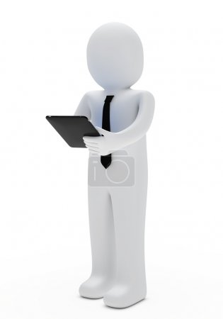 Businessman tablet