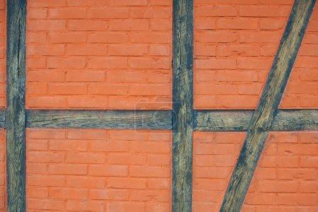Photo for Brick and wood wall - Royalty Free Image