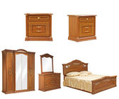 Set of isolated bedroom furniture