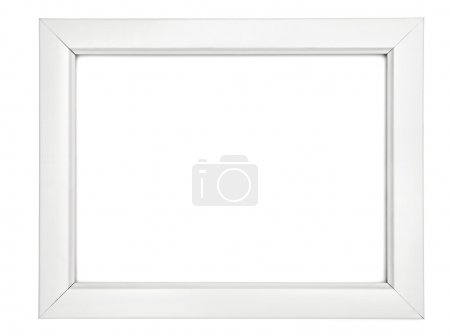 Photo for Collection of various wooden frames for painting or picture on white background. each one is shot separately - Royalty Free Image