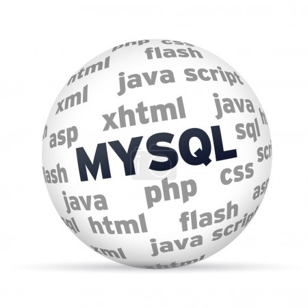 Photo for MYSQL Database 3d Sphere on white background. - Royalty Free Image