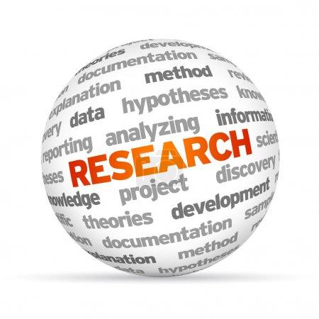 Photo pour Sphère de mot de recherche 3d sur fond blanc . - image libre de droit