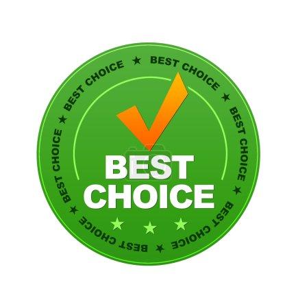 Photo pour Bouton vert Best Choice sur fond blanc . - image libre de droit