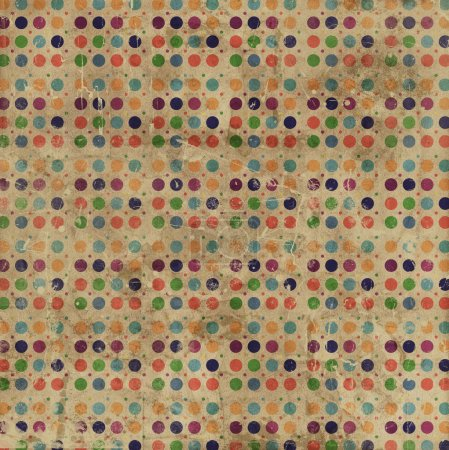 Grunge Polka Dots Background
