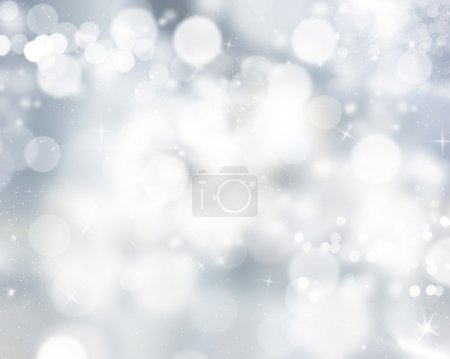 Silver Bokeh lights background