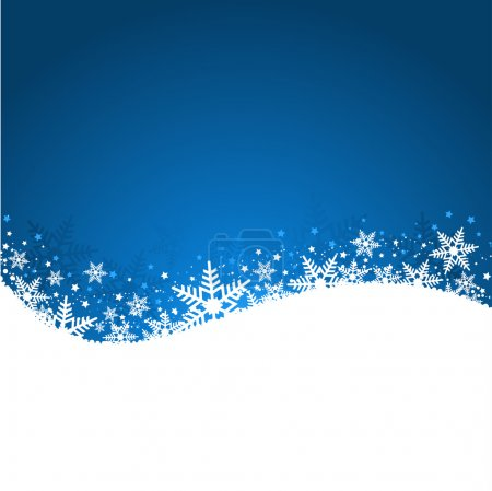 Photo for Christmas background of snowflakes and stars - Royalty Free Image