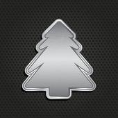 Metallic christmas tree background