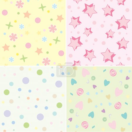 Seamless tile childrens backgrounds