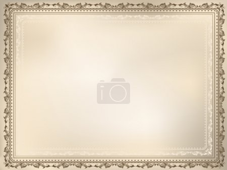 Photo for Vintage background with a detailed decorative frame - Royalty Free Image