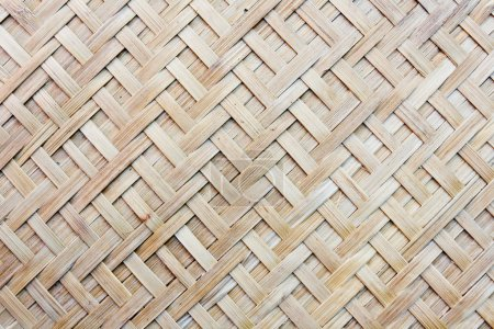 Thai handcraft of bamboo weave pattern