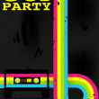 Retro Poster - 80s Party Flyer With Audio Cassette...