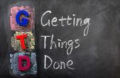 Zkratka gtd pro získání věci udělat