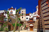 Church with beautiful architecture and garden. Lloret de Mar, Co